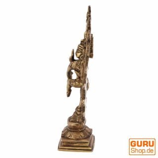 Messingfigur, Statue Shiva im Feuerkranz 17 cm - Motiv 11 - Vorschau 3