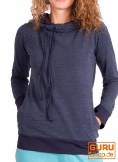 Pullover, Langarmshirt mit Kapuze aus Bio-Baumwolle / Chapati Design - navy