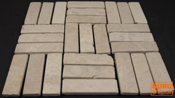 Stäbchen Mosaik Fliesen aus Marmor (P-05) - Design 12 - Vorschau 3
