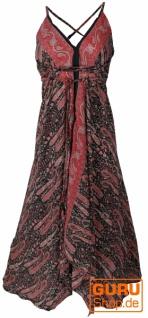 Boho Sommerkleid, Magic Dress, Maxirock, Midikleid, wandelbares Strandkleid - braun/rot