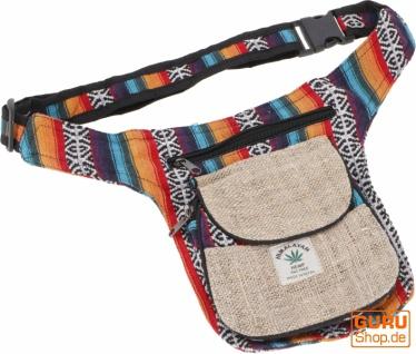 Hanf Ethno Sidebag, Nepal Gürteltasche - Modell 2