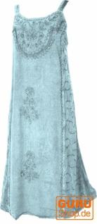 Besticktes indisches Sommerkleid Boho chic - hellblau