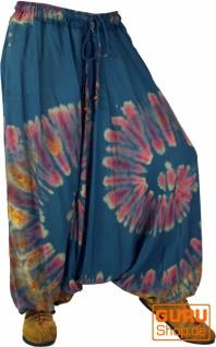 Batik Pluderhose Aladinhose - blau