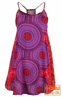 Boho Mandala Minikleid, Trägerkleid, Strandkleid, Tank Top - fuchsia