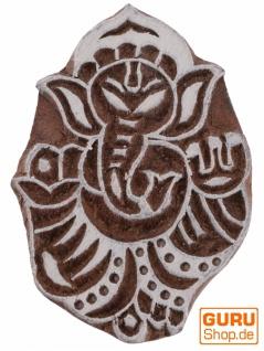 Indischer Textilstempel, Stoffdruckstempel, Blaudruck Stempel, Holz Model - 5*7 cm Ganesha 2 - Vorschau 2