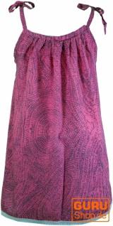 Kinderkleid, Sommerkleid, Trägerkleid, Strandkleid, Minikleid - pink - Vorschau 2