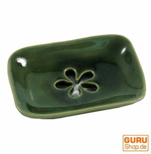 Exotische Keramik Seifenschale - Blume