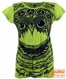 Sure T-Shirt Eule - lemon
