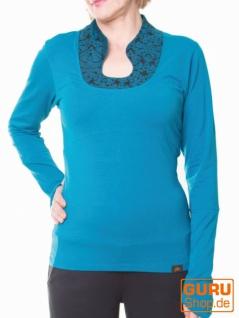 Pullover, Langarmshirt aus Bio-Baumwolle / Chapati Design - petrol