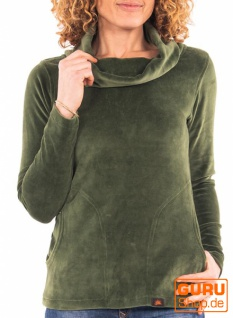 Rollkragen Pullover aus Bio-Baumwolle / Chapati Design - green