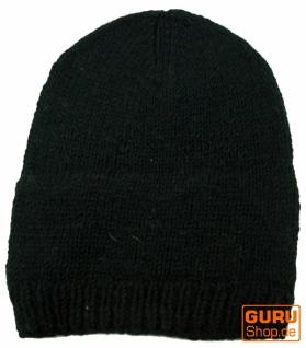 Beanie Mütze, Nepal Strickmütze - - Strickmütze schwarz 1c6862