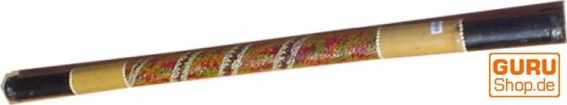 Musikinstrument aus Holz, Musik Percussion Rhythmus Klang Instrument, handgearbeitet, Regenstab - Regenmacher aus Bambus 120 cm
