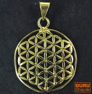 Indisches`Flower of life` Amulett, Talisman Medaillon - Model 1 - Vorschau 2