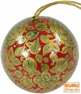 Upcyceling Weihnachtskugel aus Pappmachee, Handbemalter Christbaumschmuck, Kaschmirkugeln - Muster 14