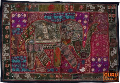 Indischer Wandteppich Patchwork Wandbehang, Einzelstück 150*100 cm - Muster 31