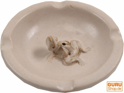 Keramik Räucherteller & Aschenbecher - beige/Modell 20