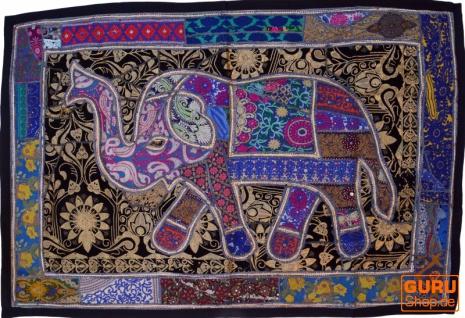 Indischer Wandteppich Patchwork Wandbehang, Einzelstück 150*100 cm - Muster 55