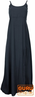 Sommerkleid, Boho Maxikleid mit Schlitz - schwarz