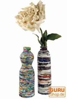 Upcycling Vase, Boho vintage Vase