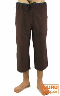3/4 Yogahose, Goa Hose, Goa Shorts- kaffeebraun - Vorschau 2