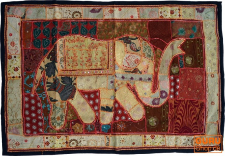 Indischer Wandteppich Patchwork Wandbehang, Einzelstück 150*100 cm - Muster 8