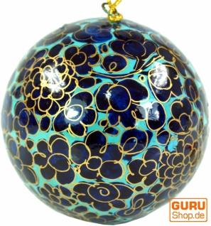 Upcyceling Weihnachtskugel aus Pappmachee, Handbemalter Christbaumschmuck, Kaschmirkugeln - Muster 15