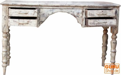 Kleiner Schreibtisch aus Vollholz im shabby chic style JH17-063