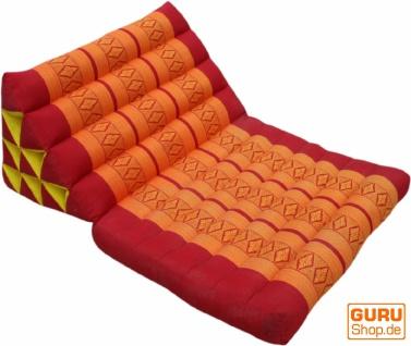 Thaikissen, Dreieckskissen, Kapok, Tagesbett mit 1 Auflage - rot/orange