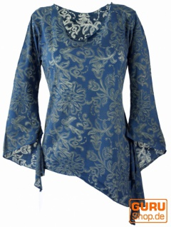 Psytrance Elfen Shirt Goa chic - blau