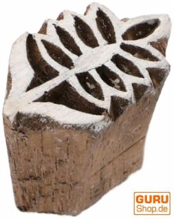 Indischer Textilstempel, Holz Stoffdruckstempel, Blaudruck Stempel, Druck Modell - 3*1, 5 cm Blume 1