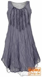 Boho Krinkelkleid, Lagenkleid, Minikleid, Sommerkleid, Strandkleid - blaugrau