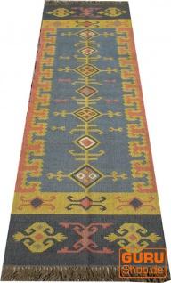 Orientalischer grob gewebter Kelim Teppiche 250*80 cm - Muster 4