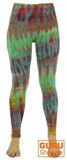 Batik Damen Leggings, Stretch Hose für Frauen, Yogahose - grün