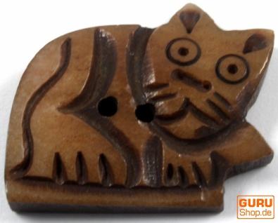 Tibet Knopf aus Horn - 13