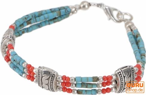 Tibetschmuck Perlenarmband, Ethnoarmband - Modell 7