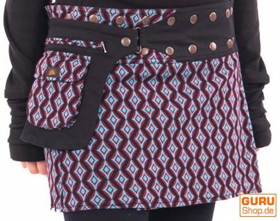 Click & Go Minirock aus Bio Baumwolle / Chapati Design - black star