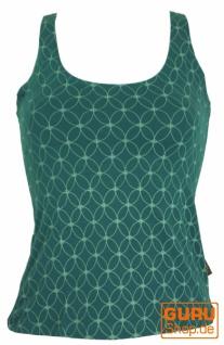 Yoga-Top Bio Baumwolle Flower of life - emerald