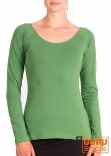 Pullover, Langarmshirt aus Bio-Baumwolle / Chapati Design - green