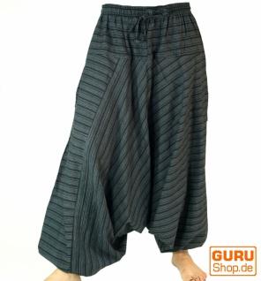 Haremshose Pluderhose Pumphose Aladinhose aus Baumwolle - schwarz