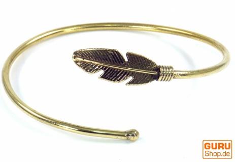 Armspange, Spange Messing Feder- gold