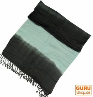 Feiner Baumwollschal mit Farbverlauf mint/grau - Vorschau 2
