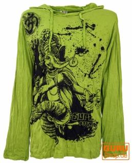 Sure Langarmshirt, Kapuzenshirt Dancing Ganesh - lemon