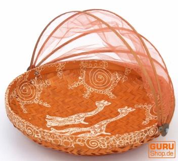 Fliegenschutz Obstkorb in 3 Größen - orange