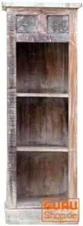 Schmales Regal aus Massivholz mit eingearbeiteten Schnitzereien Jh17-007