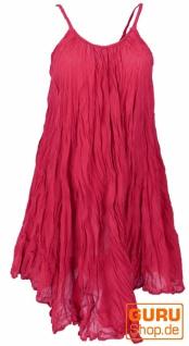 Boho Krinkelkleid, Minikleid, Sommerkleid, Strandkleid - bordeauxrot