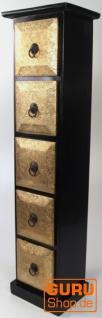 CD Schrank, Regal mit Metallverzierungen - Modell 2