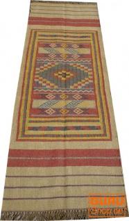 Orientalischer grob gewebter Kelim Teppiche 250*80 cm - Muster 5
