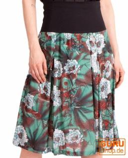 Midi-Rock, Midi-Rock/ Skirt / Chapati Design - petrol blue asian