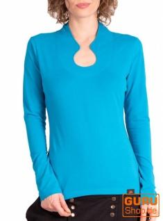 Pullover, Langarmshirt aus Bio-Baumwolle / Chapati Design - turquoise