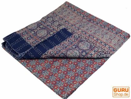 Quilt, Steppdecke, Tagesdecke Bettüberwurf, Besticktes Tuch, Indischer Bettüberwurf, Tagesdecke - Muster 32